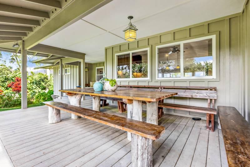 oahu beachfront cottage lanai