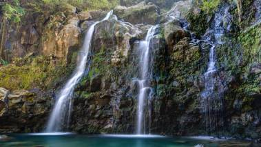Upper Waikuni Falls in hana maui