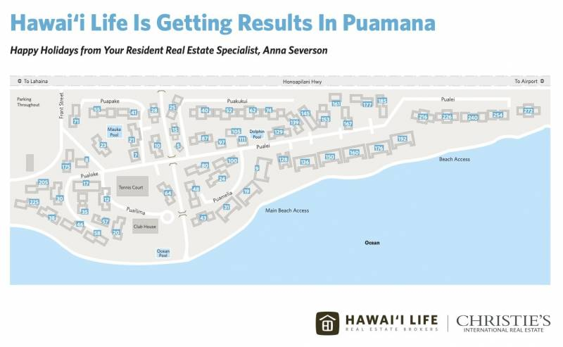 hawaii life puamana condo map
