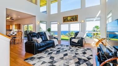 oceanfront living room big island hawaii