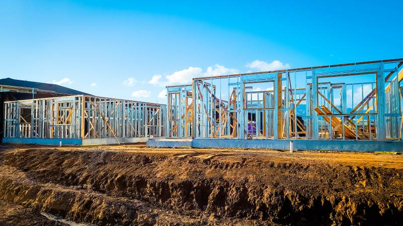 new homes under construction on Oahu