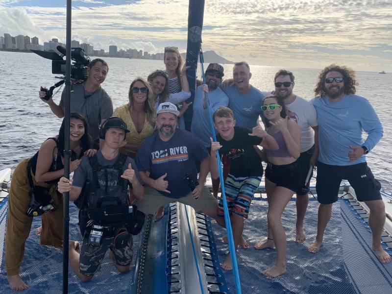 hgtv's hawaii life crew sailing on oahu
