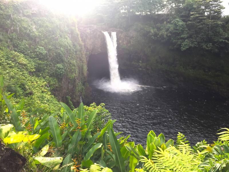Hi'ilawe Waterfalls in Waipo Valley Big Island Hawaii