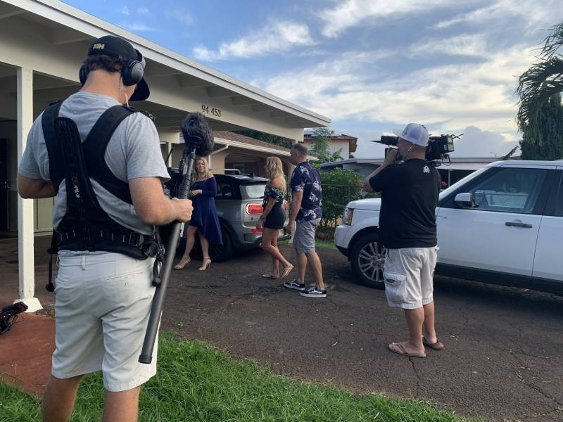 behind the scenes filming hawaii life