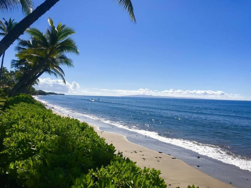 ocean view of puamana maui beach