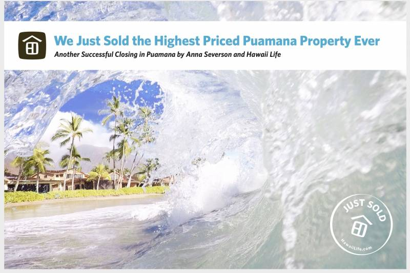 highest priced puamana property sold