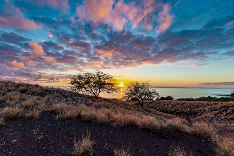Big Island Sunset in Winter