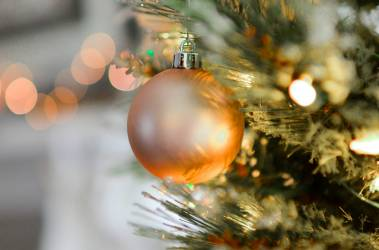 shiny gold christmas ball ornament