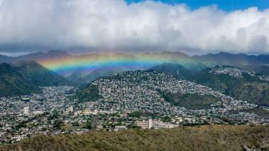 rainbow over honolulu oahu