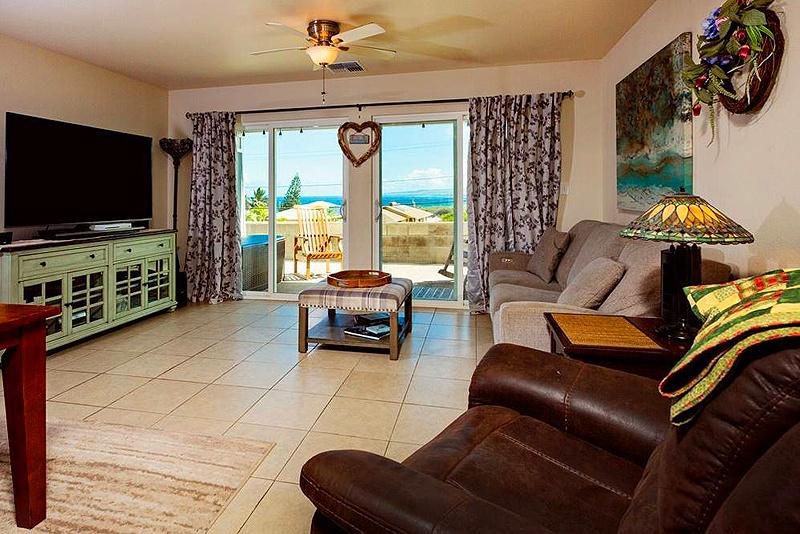living room in maui