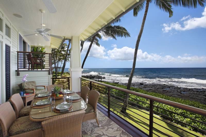 oceanfront lanai at kauai home for sale