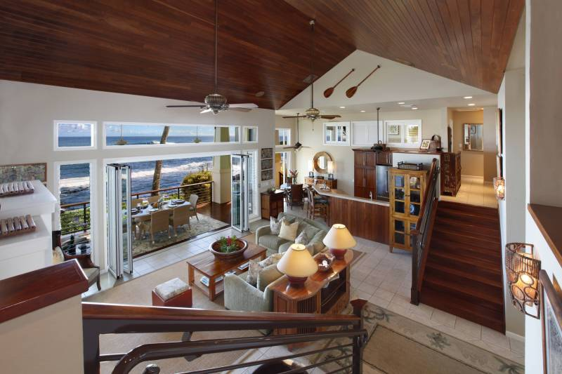 kauai oceanfront home interior