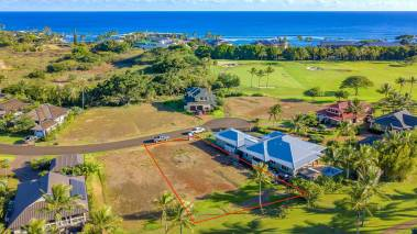Lot 21 - land for sale at kukuiula kauai