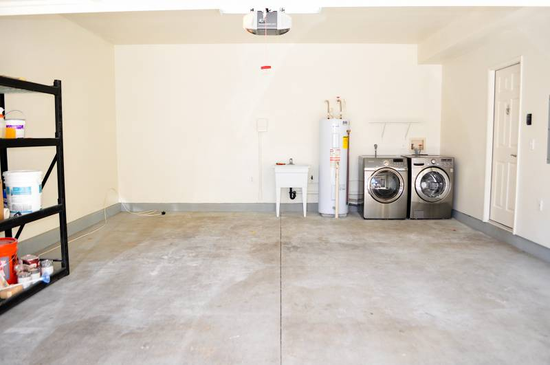 2 car garage with washer and dryer