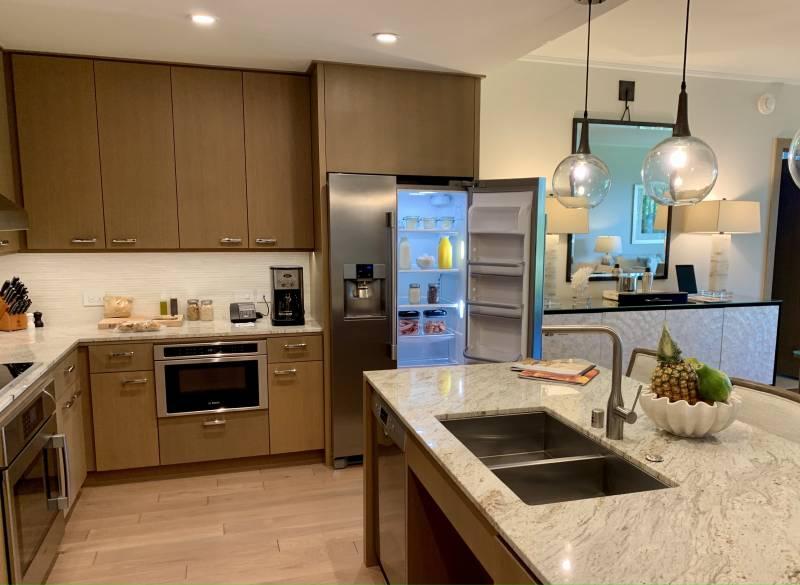 spacious kitchen at timbers kauai townhome