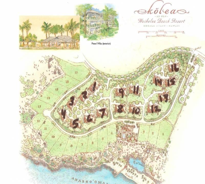 Kolea at Waikoloa Beach Resort site map