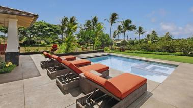 lounge by the pool at kukuiula