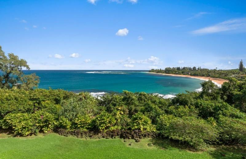 ocean views from kauai north shore home for sale