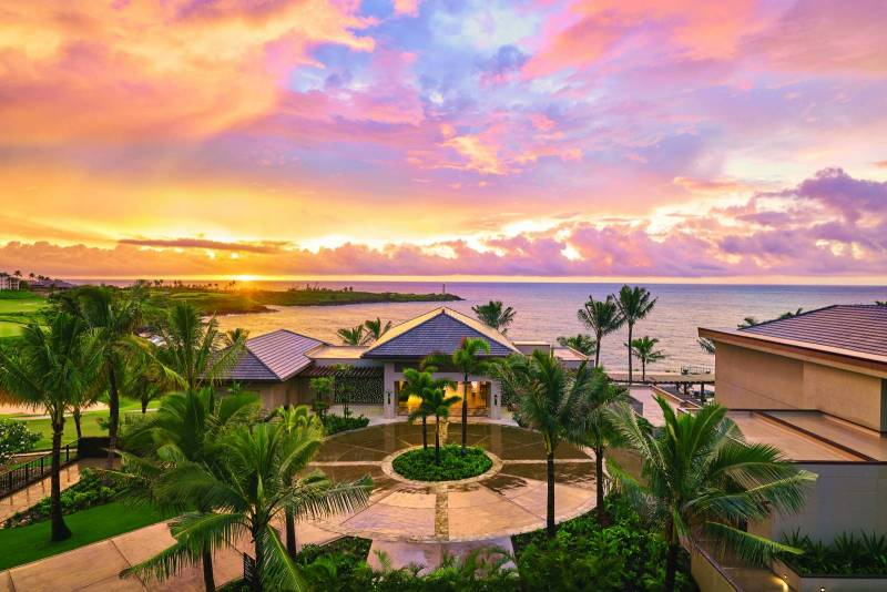 gorgeous sky at timbers kauai resort