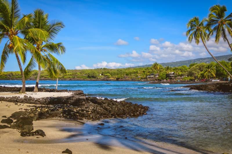 beautiful beach on big island hawaii