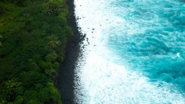 A view above Kona, Big Island of Hawaii.