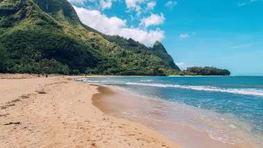 kauai beach on a sunny day