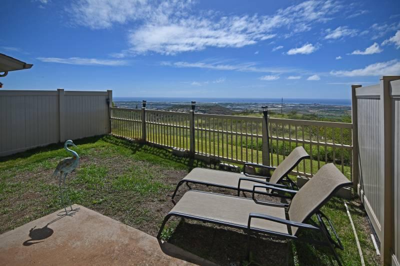 backyard in makakilo oahu townhouse for sale