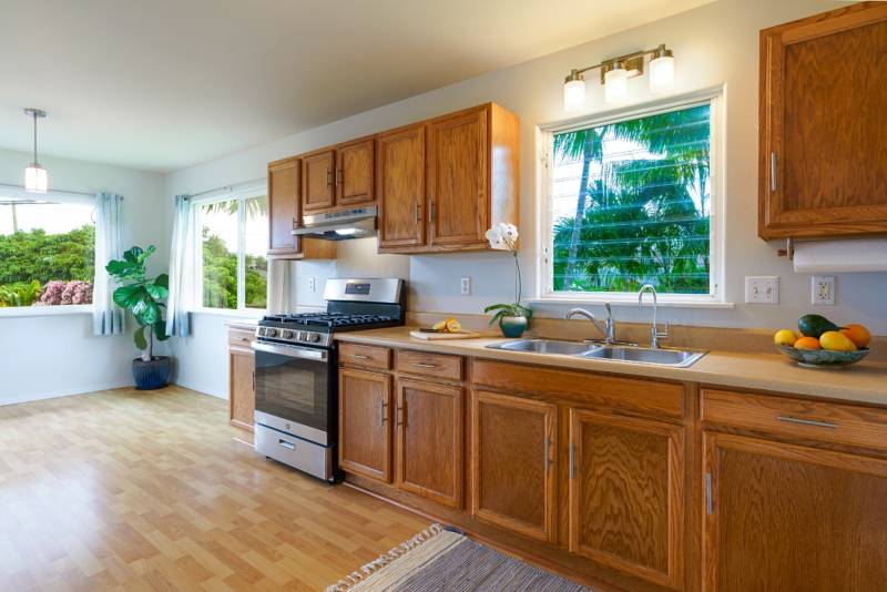 kitchen in wailua homesteads home for sale