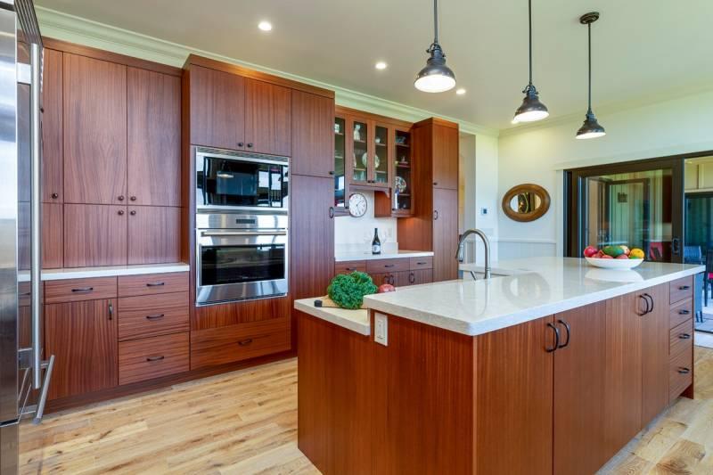 modern high-end kitchen in hawaii