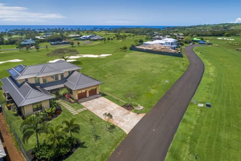 kauai home on golf course at kukuiula