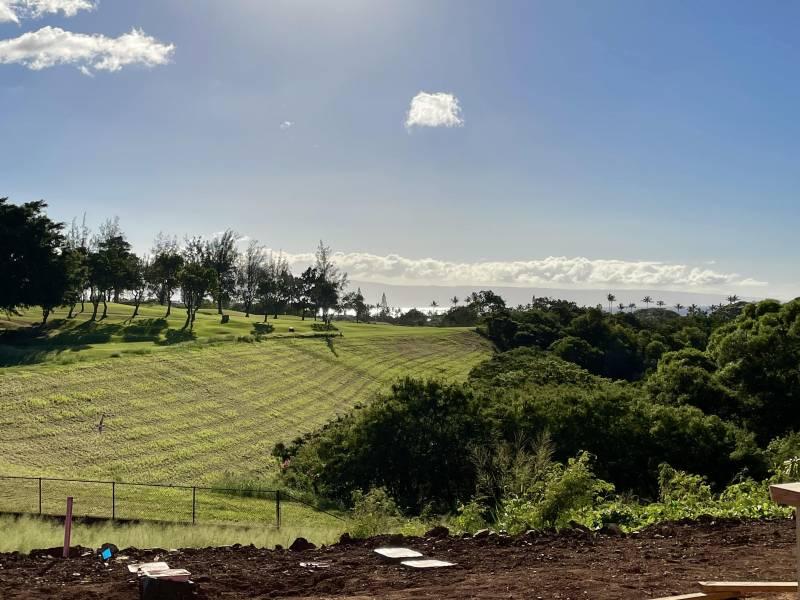 looking at kapalua bya golf course