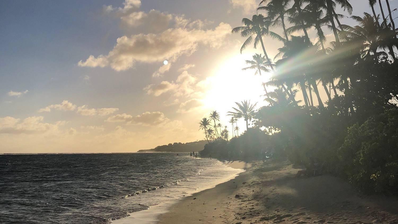 sunset at oahu beach