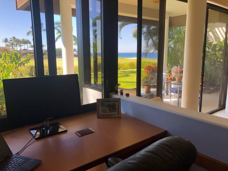Mauna Lani Point Condo - home office