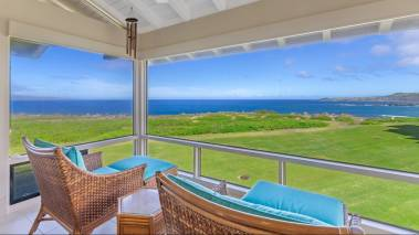 ocean views from master bedroom sitting area