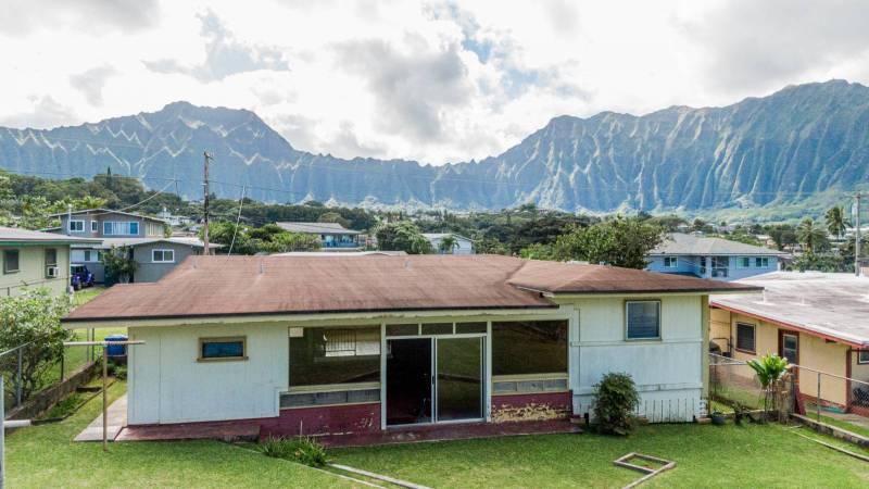 kaneohe oahu home with koolau mountain views