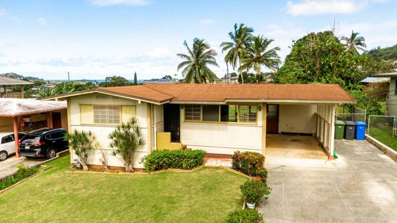 ocean views from kaneohe oahu home for sale