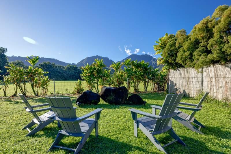 enjoying the weather in hanalei kauai