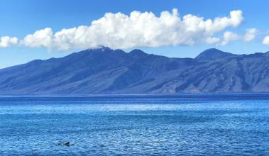 view of molokai from west maui