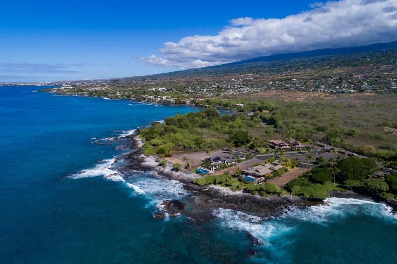 aerial view ke alohi kai oceanfront community big island hawaii