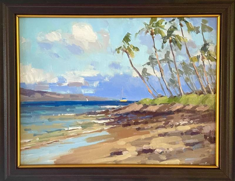 painting of puamana maui