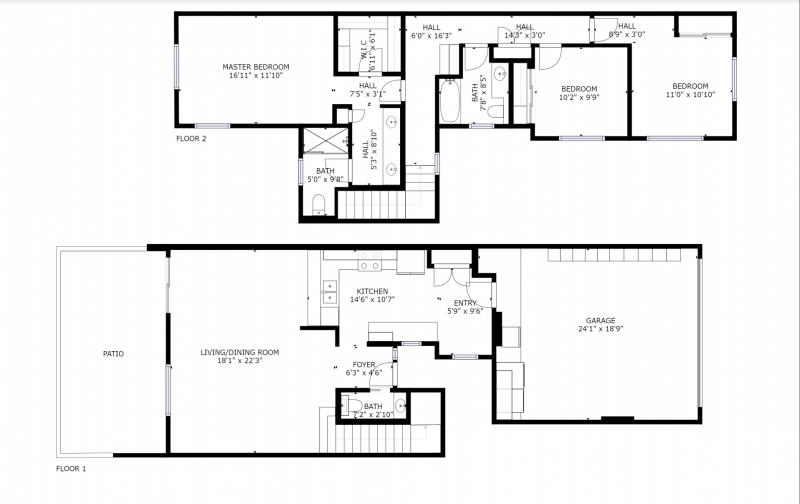 floorplan for oahu townhouse