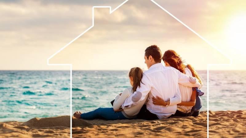 family on hawaii beach