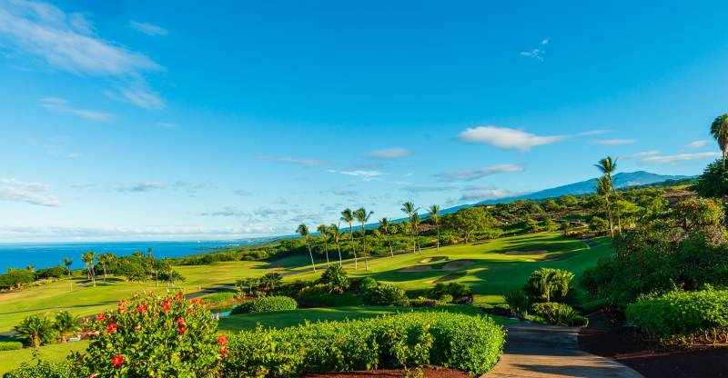 golf course at hokulia