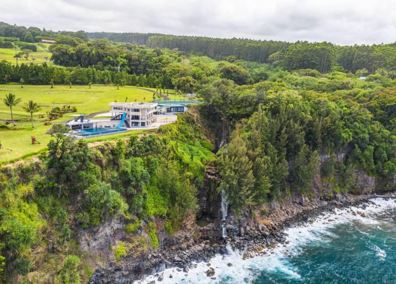 hawaii island waterfall estate