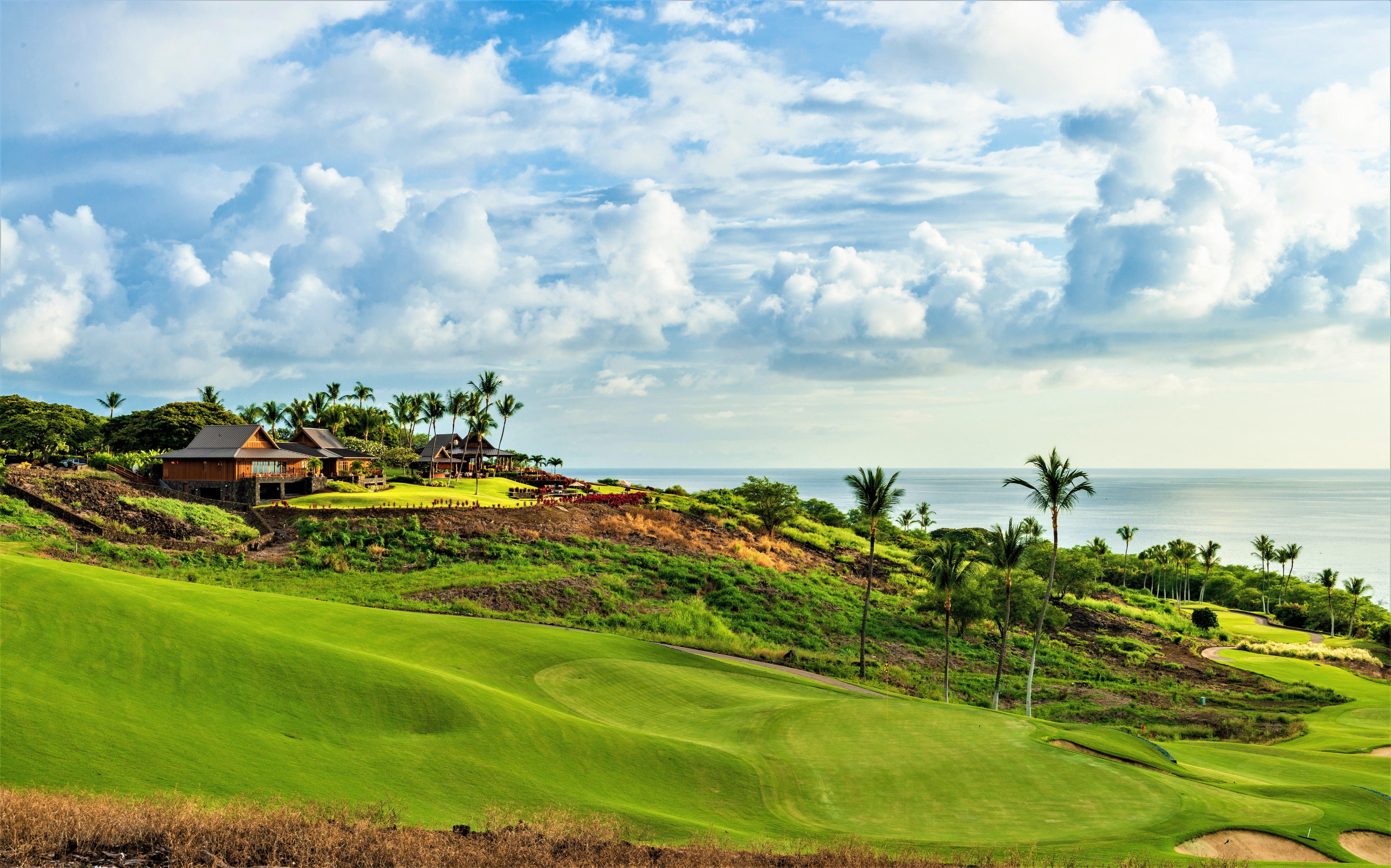 golf course views at hokulia