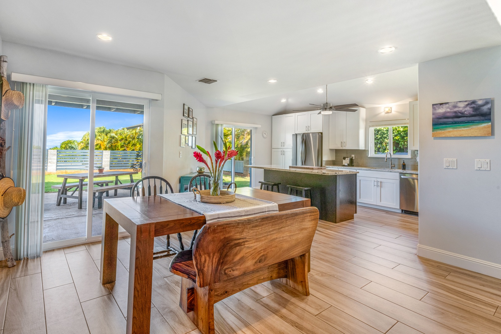 Kitchen area of new listing in West Maui