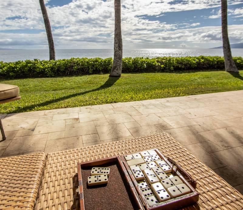 playing dominoes at puamama