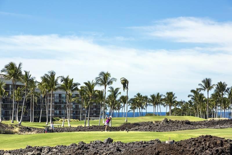 Golfer from Halii Kai condos