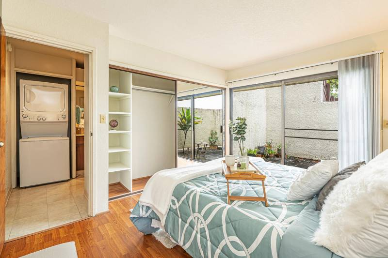 bedroom with patio