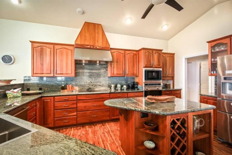 kitchen interior on the big island